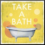 Take a Bath Mounted Print by Drako Fontaine