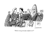 """Which is the genetically modified corn?"" - New Yorker Cartoon Premium Giclee Print by Joe Dator"