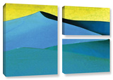 Evening At The Dunes, 3 Piece Gallery-Wrapped Canvas Flag Set Posters by Linda Parker