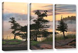 Auburn Evening, 3 Piece Gallery-Wrapped Canvas Set Gallery Wrapped Canvas Set by Ken Kirsh