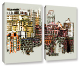 Nyc Manhattan Cluster, 2 Piece Gallery-Wrapped Canvas Set Posters by Linda Parker