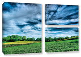 Field Of Dreams, 3 Piece Gallery-Wrapped Canvas Flag Set Gallery Wrapped Canvas Set by Steve Ainsworth