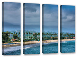 The Beach At Santa Barbara, 4 Piece Gallery-Wrapped Canvas Set Art by Steve Ainsworth