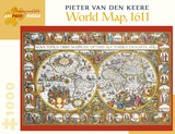 Pieter Van Den Keere: World Map, 1611 1000 Piece Puzzle Jigsaw Puzzle