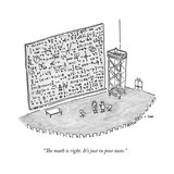 """The math is right. It's just in poor taste."" - New Yorker Cartoon Premium Giclee Print by Colin Tom"