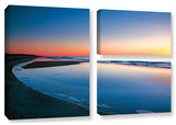 Sea And Sand Ii, 3 Piece Gallery-Wrapped Canvas Flag Set Gallery Wrapped Canvas Set by Steve Ainsworth