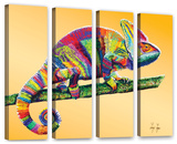 Going Nowhere, 4 Piece Gallery-Wrapped Canvas Set Prints by Linzi Lynn