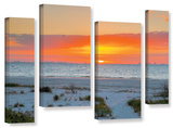Sanibel Sunrise Iv, 4 Piece Gallery-Wrapped Canvas Staggered Set Prints by Steve Ainsworth