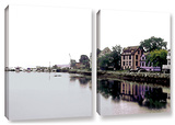 Fishing Village Nova, 2 Piece Gallery-Wrapped Canvas Set Art by Linda Parker