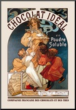 Chocolat Ideal Mounted Print by Alphonse Mucha