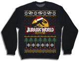 Crewneck Sweatshirt: Jurassic World- Ugly Xmas Sweater T-Shirt