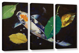 Kumonryu Koi, 3 Piece Gallery-Wrapped Canvas Set Gallery Wrapped Canvas Set by Michael Creese