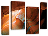 Slot Canyon V, 4 Piece Gallery-Wrapped Canvas Staggered Set Posters by Linda Parker