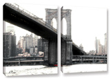 Nyc'S Brooklyn Bridge, 2 Piece Gallery-Wrapped Canvas Set Prints by Linda Parker