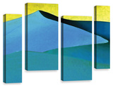 Evening At The Dunes, 4 Piece Gallery-Wrapped Canvas Staggered Set Gallery Wrapped Canvas Set by Linda Parker