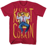Kurt Cobain- Sitting Chair Photo T-shirts