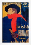 Aristide Bruant, Singer and Composer, at Les Ambassadeurs on the Champs Elysees, Paris, 1892 Framed Giclee Print by Henri de Toulouse-Lautrec