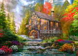 Sunset At The Old Mill 1000 Piece Puzzle Jigsaw Puzzle