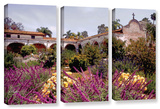 Gardens Of Mission San Juan Capistrano, 3 Piece Gallery-Wrapped Canvas Set Posters by Linda Parker