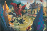 Harry Potter - Quidditch Mounted Print
