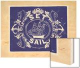 Nautical Advice 8 Wood Print by  Z Studio