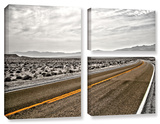 Slow Curves, 3 Piece Gallery-Wrapped Canvas Flag Set Print by Mark Ross
