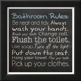 Bathroom Rules Poster by Lauren Gibbons