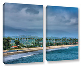 The Beach At Santa Barbara, 2 Piece Gallery-Wrapped Canvas Set Posters by Steve Ainsworth