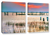 Sunset Bay Iii, 3 Piece Gallery-Wrapped Canvas Flag Set Gallery Wrapped Canvas Set by Steve Ainsworth