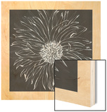 Chalk Bloom 1 Wood Print by Connor Adams
