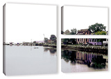 Fishing Village Nova, 3 Piece Gallery-Wrapped Canvas Flag Set Posters by Linda Parker