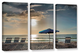 Tropical Ease, 3 Piece Gallery-Wrapped Canvas Set Gallery Wrapped Canvas Set by Steve Ainsworth
