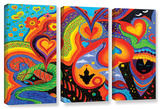 Hearts, 3 Piece Gallery-Wrapped Canvas Set Gallery Wrapped Canvas Set by Marina Petro