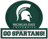 Michigan State Spartans Jumbo Tailgate Peel & Stick Wall Decal