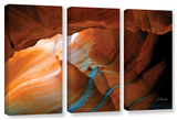 Slot Canyon V, 3 Piece Gallery-Wrapped Canvas Set Gallery Wrapped Canvas Set by Linda Parker