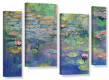 Water, 4 Piece Gallery-Wrapped Canvas Staggered Set Gallery Wrapped Canvas Set by Michael Creese