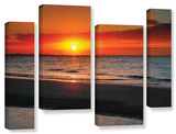 Sunrise Over Sanibel , 4 Piece Gallery-Wrapped Canvas Staggered Set Prints by Steve Ainsworth