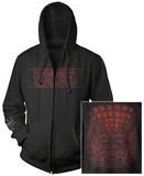 Zip Hoodie: Tool- Red 10,000 Days Face (Front/Back) Sweat à capuche à fermeture à glissière