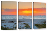 Sanibel Sunrise Iv, 3 Piece Gallery-Wrapped Canvas Set Gallery Wrapped Canvas Set by Steve Ainsworth