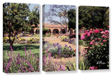 Mission San Juan Capistrano Ii, 3 Piece Gallery-Wrapped Canvas Set Prints by Linda Parker