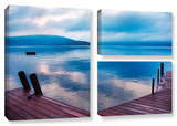 Interlude Filtered, 3 Piece Gallery-Wrapped Canvas Flag Set Gallery Wrapped Canvas Set by Steve Ainsworth