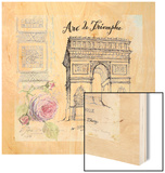 Arc De Truimphe Sketchbook Wood Print by Angela Staehling