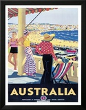 Australia Beach c.1929 Framed Giclee Print by Percy Trompf