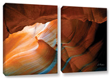 Slot Canyon V, 2 Piece Gallery-Wrapped Canvas Set Art by Linda Parker