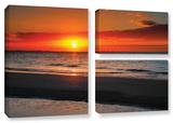 Sunrise Over Sanibel , 3 Piece Gallery-Wrapped Canvas Flag Set Gallery Wrapped Canvas Set by Steve Ainsworth