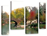 Saturday Central Park, 4 Piece Gallery-Wrapped Canvas Staggered Set Posters by Linda Parker