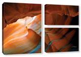 Slot Canyon V, 3 Piece Gallery-Wrapped Canvas Flag Set Prints by Linda Parker