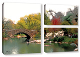Saturday Central Park, 3 Piece Gallery-Wrapped Canvas Flag Set Posters by Linda Parker