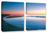 Sea And Surf, 3 Piece Gallery-Wrapped Canvas Flag Set Gallery Wrapped Canvas Set by Steve Ainsworth