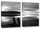 Still Waters, 3 Piece Gallery-Wrapped Canvas Flag Set Gallery Wrapped Canvas Set by Steve Ainsworth